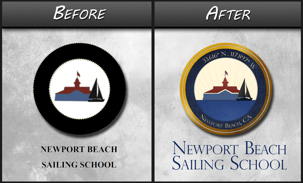 NP Beach Before and After Logo