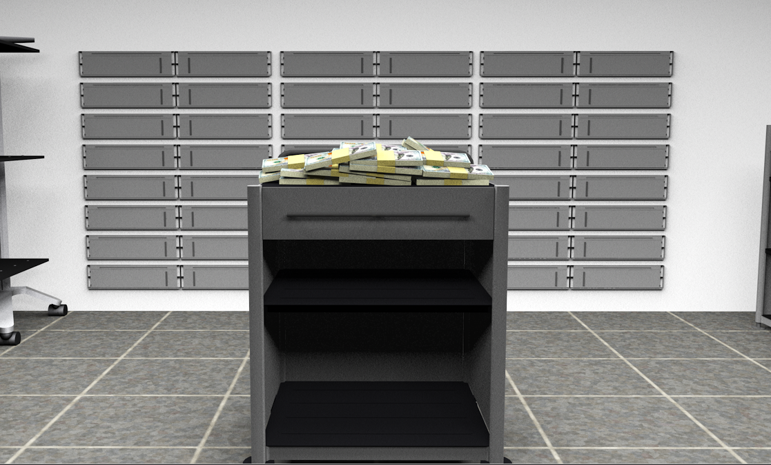 Cinema 4D Bank Vault Model