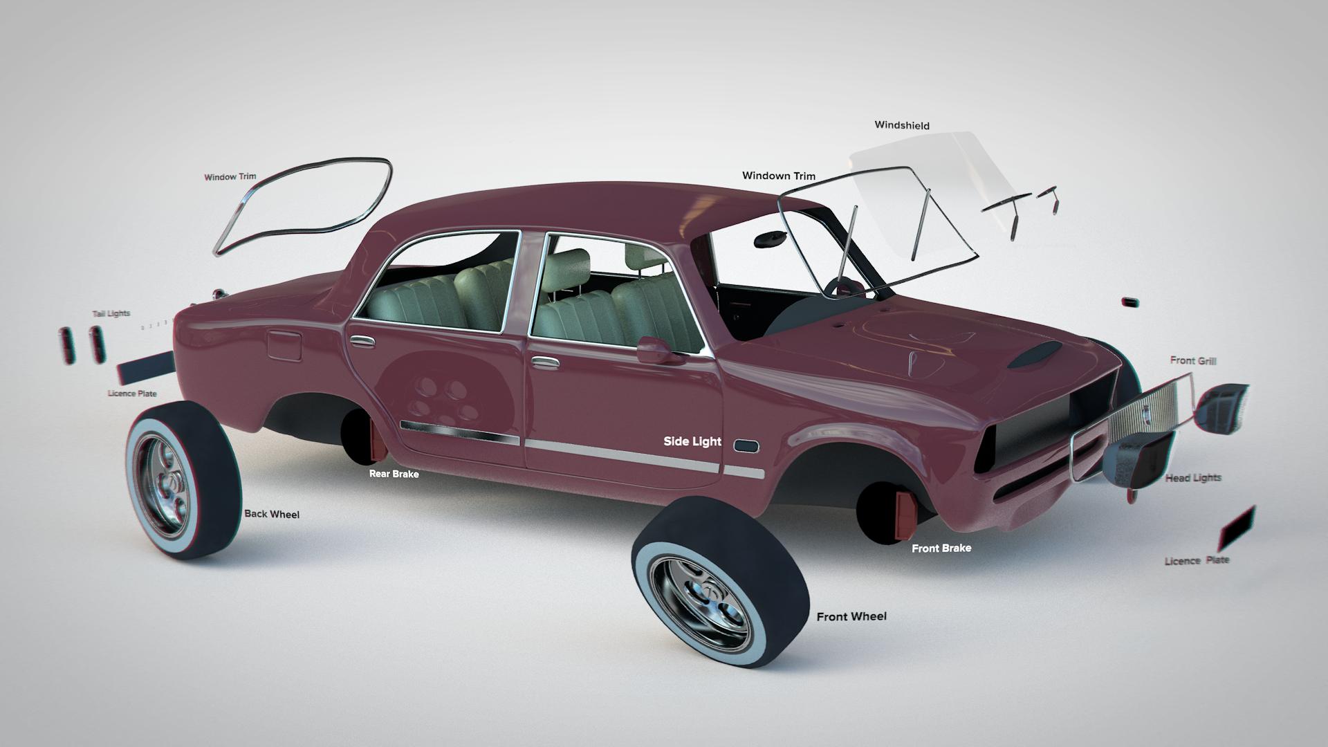 3D Exploding Car