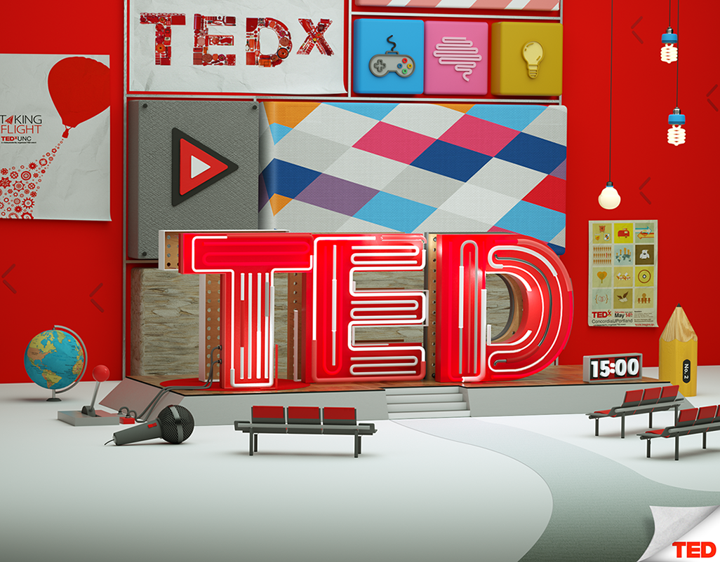 3D TED Illustation
