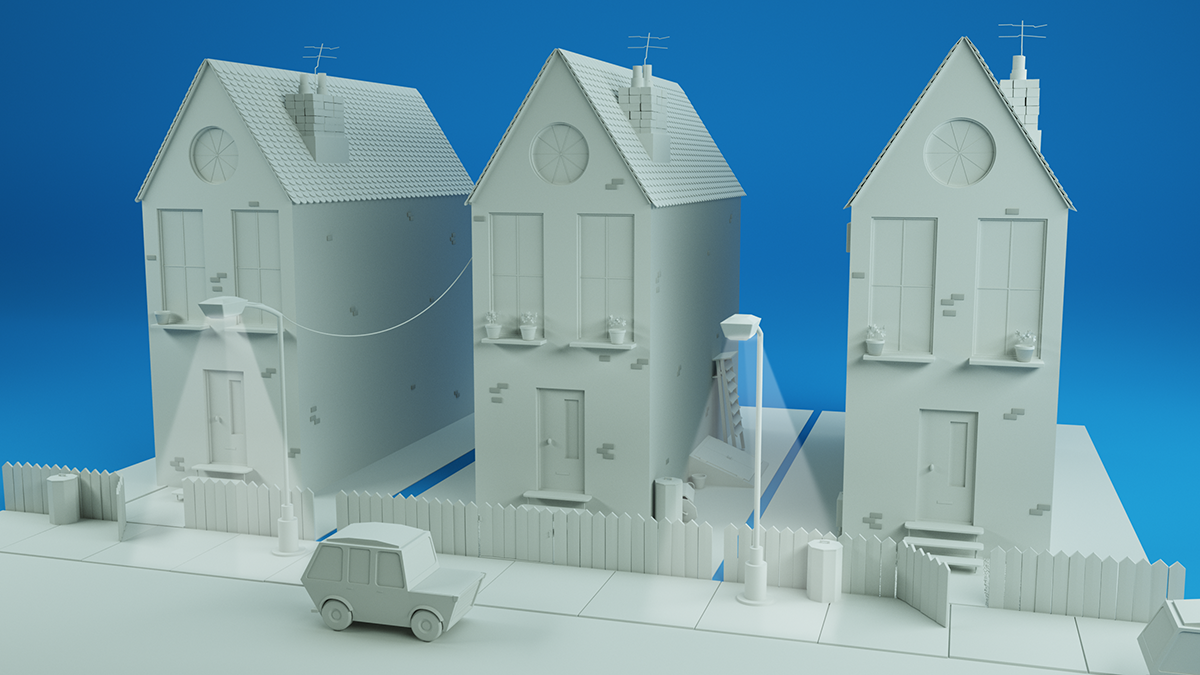Free c4d house and car model for Home design 4d